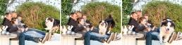 natürliche Familienfotos mit Hund