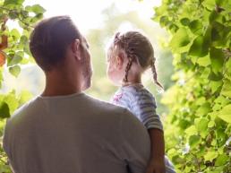Tochter und Papa Herbstliches Fotoshooting