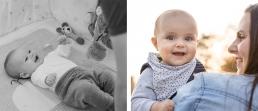 Baby's erster Grinser - ein wichtiger Meilenstein im ersten Lebensjahr