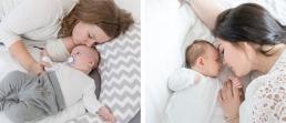 Baby kuscheln mit Mama - ein wichtiger Meilenstein im ersten Lebensjahr