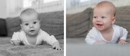 Baby's erste Mini-Liegestütz - ein wichtiger Meilenstein im ersten Lebensjahr