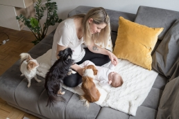 Babyfotos Zuhause als Homestory