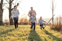 Outdoorshooting Familie